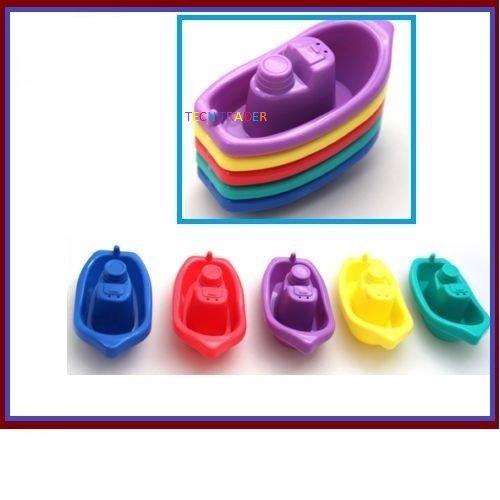 Tech Trader® Erste Schritte 5Stück Baby Kleinkind Badewanne Play Time Floating bunten Boote Spielzeug 3Monate +