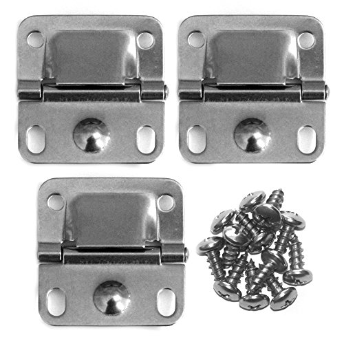 Coleman Pack of 3 Cooler Stainless Steel Hinges & Screws
