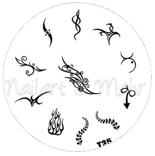 Pochoir de stamping # T 35 Tribals, tatouages, etc.