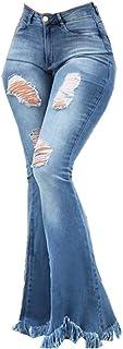 Shaoyao Vaqueros Rotos Mujer Tallas Grandes Pantalones Acampanados Largos Skinny High Waist Leggings