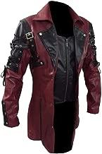 Succper Men's Medieval Clothing Steampunk Coat Retro Locomotive Large Size Leather Jacket