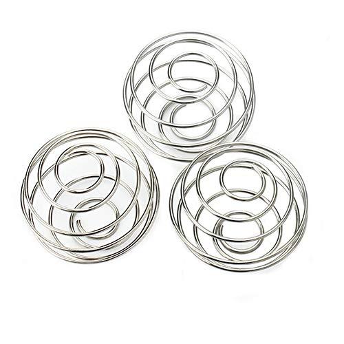 Demarkt 3 Stück Mixer Ball Edelstahl 304 für Mixing Protein Durchmesser 5,0 cm