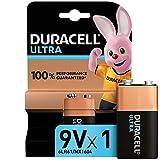 Duracell 6LR61 MX1604 Ultra 9V con Powercheck - Batteria Alcalina, Ottima per Rilevatore di Fumo, Confezione da 1, 1.5 V