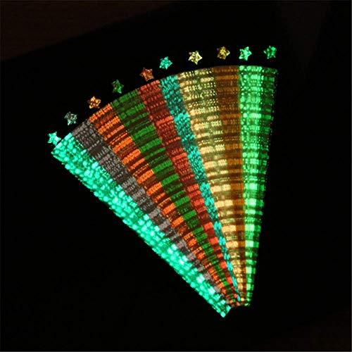 Molinter Origamipapier Origami Sterne leuchtende Papierstreifen Handwerk Papier 24.5x1cm 210PCS Zufälliges Muster