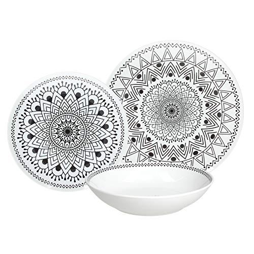 Tognana ME070185581 Vajilla de 18 piezas Tribal Chic, Porcelana