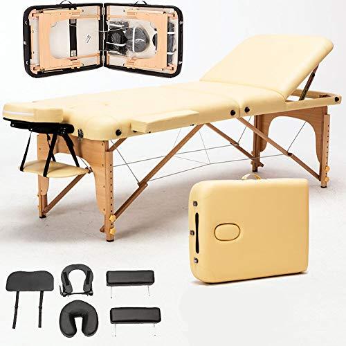 Table De Massage 3 Zones Bois Léger Pliante Lit De Massage Pliable Professionnelle Cosmetique Reiki...