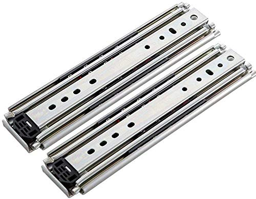 1 Pair Drawer Slide Rail Drawer Runners Heavy-Duty Slide Rail Full Connection Thickened Guide Rail Ball Bearing 3 Sections Load Capacity 260kg (Size : A 34in=85cm)