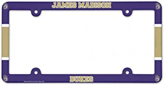 WinCraft NCAA James Madison JMU Dukes Plastic License Plate Frame
