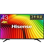 【お買い得】ハイセンス Hisense 43V型 4K対応液晶テレビ -外付けHDD録画対応(裏番組録画)/メーカー3年保証- 43A6100