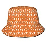 Bucket Hat Packable Reversible Longhorn Ganado Vaca Texas Skull Orange Cactus Print Sun Hat Fisherman Hat Cap Acampar al Aire Libre