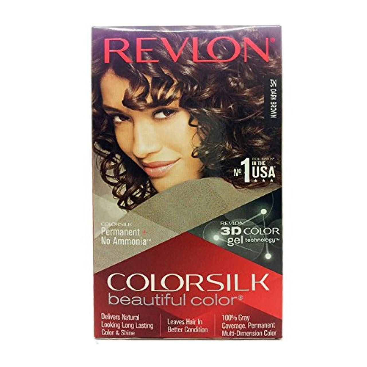 倫理隣接するミュートRevlon Colorsilk Hair Color with 3D Color Gel Technology Dark Brown 3N