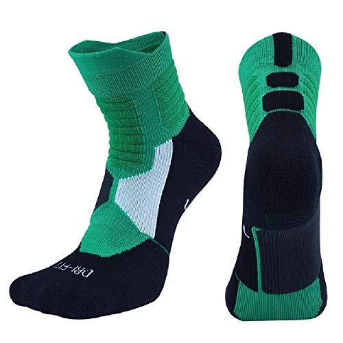 DFVX Nuevos Hombres Deportes al aire libre Elite Baloncesto Calcetines Hombres Ciclismo Calcetines Compresión Algodón Toalla Inferior Calcetines Hombres