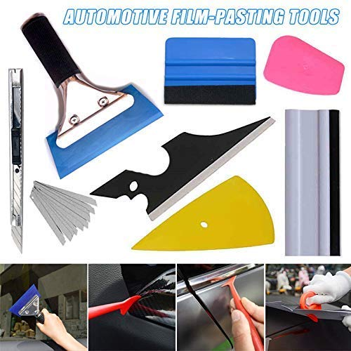 Kissherely Rubber Squeegee Replacement for Car Window Tinting and Cleaning Vinyl Decal Installing Tool Car Wash Accessories