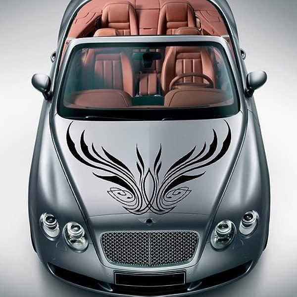 汽车贴花引擎盖贴纸墙壁艺术图形油漆汽车卡车设计细条纹 M1186