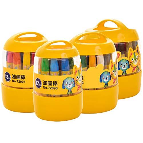 WFZ17 36 piezas de pintura al óleo para estudiantes, colorida, pintura al óleo, pintura pastel, bolígrafo de graffiti, suministros escolares multicolor