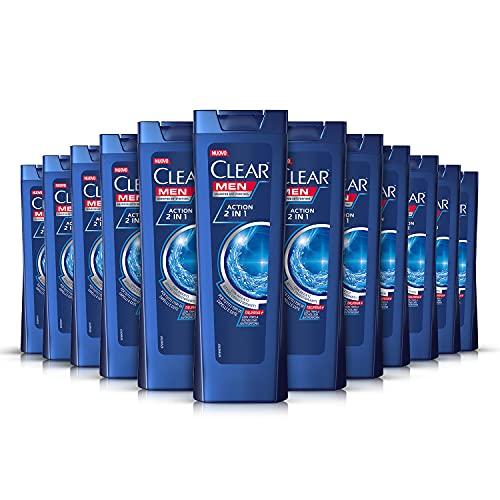 Clear Shampoo Action 2 in1, confezione risparmio 12 x 225 ml