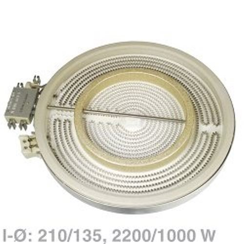AEG Electrolux Zweikreis HiLight Heizkörper, Kochplatte 2200 / 1000 Watt, 230 Volt - Nr.: 4055067781, EGO 10.51213.432
