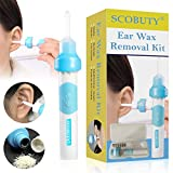 Ear Wax Removal Kit, Earwax Remover, Ear Cleaner, Electric Earwax Removal Tools for Adults and Kids, Vacuum Ear Cleaners Soft Silicone Automatic Earwax Removal Kits with LED Light Powerful Suction