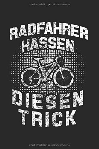 Radfahrer Hassen Diesen Trick: Elektro-Fahrrad & E-Bike Notizbuch 6'x9' Elektro-Mountainbike Geschenk für Biker & MTB Mountainbike