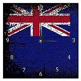 BestIdeas Neuseeland-Flagge, geräuschlos, Quarz-Wanduhr, tickt nicht, batteriebetrieben, Heimdekoration für Schlafzimmer, Wohnzimmer, Küche, Büro
