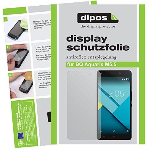 dipos I 6X Schutzfolie matt kompatibel mit BQ Aquaris M5.5 Folie Bildschirmschutzfolie