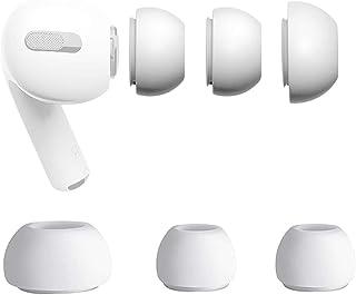 Almohadilla de Repuesto 2 Pares Compatibles con AirPods Pro Puntas de Repuesto Almohadilla Silicona con Estuche para Airpo...