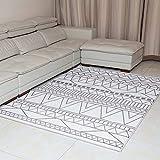 DADAO Diamante Sala de Estar-alfombras. Stylish impresión de la Medalla y clásico Boarder diseño Alfombra es fácil de Limpiar, Resistente a Las Manchas, y no se derramada,2,133x190cm(52x75inch)