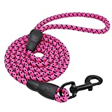 Generic Brands Durable Dog Lead Rope Lead Nylon Dogs Walking Lead Rope Pet Long Leashes Belt Round Dog Leash for Dog Outdoor Walking Training Pet Leads Belt 150cm Strong Pulling Support Dogs