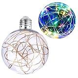 KZKR Ampoule Décorative LED E27 Guirlande Lumineuse Boule Guinguette Bulbe pour Noël Café Chambre Jardin Maison Intérieur Extérieur C146-FOURCOLOR (Coloré)