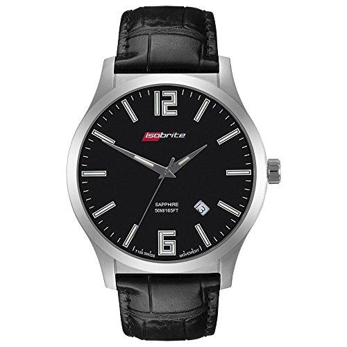 Isobrite ISO902 Grand Slimline Series Black Dial Tritium Watch