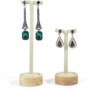 Jewellery Boxes Stud Rack Earring Hanger Earring Rack Jewelry Display Stand Window Jewellery Display Props Jewellery Boxes & Organisers (Color : Beige, Size : 17.6cm+13.3cm)