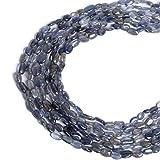 Filo di perline lisce blu Iolite Circa 67,00 Ct Filo di Iolite naturale blu Un filo di pietre preziose