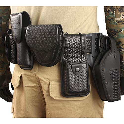 LytHarvest 10-in-1 Police Duty Utility Belt Rig, Security Guard Modular Law Enforcement Duty Belt with Pouches - Handcuff Case, Radio Pouch, Pistol Holster, Glove Pouch, Light Holder (Medium)