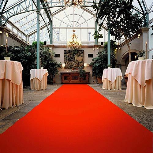 VIP Event-Teppich-Läufer, Hochzeitsläufer PODIUM - Rot, 2,00m x 1,00m, Hochzeitsteppich, Empfangsteppich, Eventteppich, Teppichboden für Messe & Event