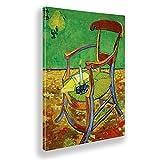 Giallobus - Cuadro - Vincent Van Gogh - Silla de Gauguin - Lienzo - 100x140 - Listo para Colgar - Cuadros Modernos para el hogar