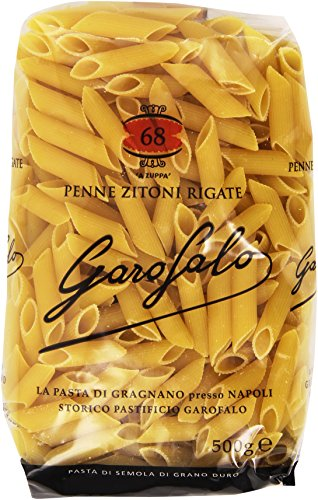 GAROFALO - Penne Zitoni Rigate, Pasta Di Semola Di Grano Duro - 8 pezzi da 500 g [4 kg]