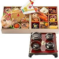 お食い初め豪華二段セット 日本橋正直屋 和食伝統料理の老舗 これ一つでお食い初めの儀式が出来ます (女の子用 器付き)