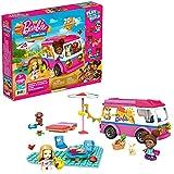 Mega Construx Barbie Supercaravana de aventuras, muñecas y coche de juguete de bloques de construcción con accesorios (Mattel GWR35)