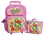 Shopkins 16' GIRLS KIDS LARGE ROLLING BACKPACK Plus LUNCH BAG