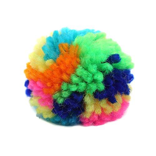 ValianhAgen Lot de 10 pelotes de laine interactives pour chat/chaton Couleur aléatoire
