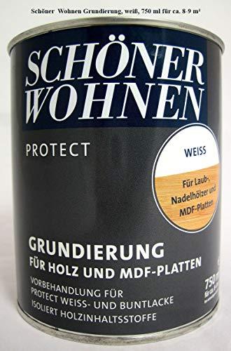 Schöner Wohnen ProfiDur MDF Grund, auf Kunstharzbasis, Farbton Reinweiss / 750 ml