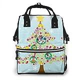 Bolsa de pañales mochila – Mickey Mouse Navidad multifunción impermeable mochila de viaje pañales bolsas cambiantes
