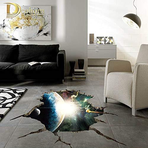 Abstrakter kosmischer Raum 3D Bodenaufkleber Wohnkultur Kinderzimmer Schlafzimmer Aufkleber Wandaufkleber 60x90cm