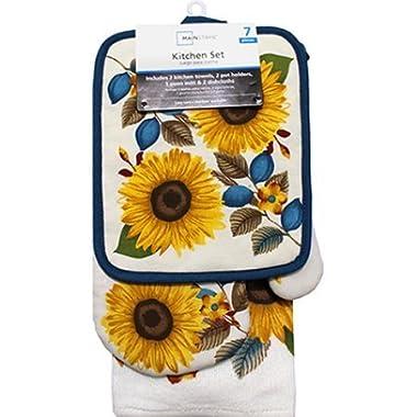 Sunflower 7pc Kitchen Towel Set