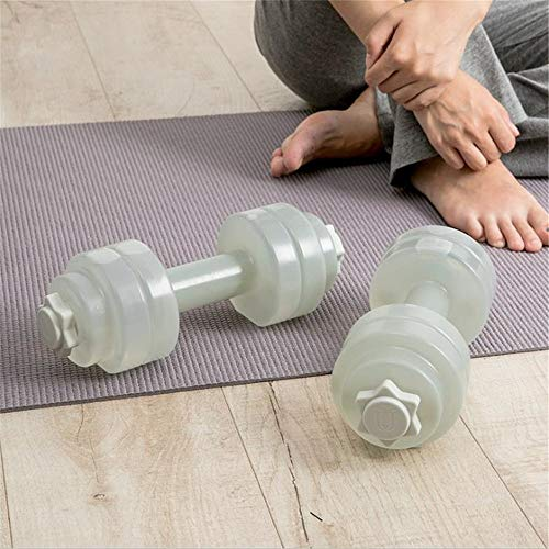 Women Dumbbell Ladies Mini Portable Dumbbell Plastic Water Filling Dumbbell Fitness Body Yoga Yoga Fitness Equipment Multicolor Optional Arm Muscle Fitness Exercise ( Color : Gray , Size : Free size )
