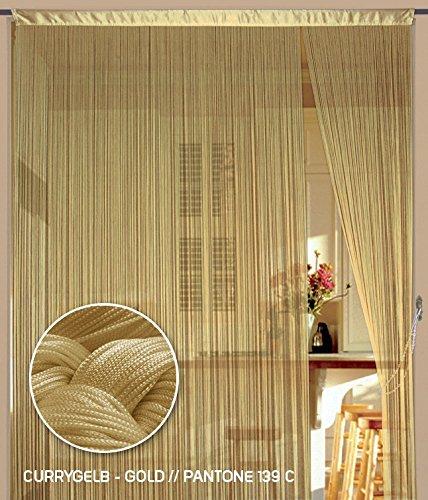 Kaikoon Fadenvorhang 90 cm x 240 cm (BxH) currygelb Gold