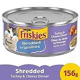 Friskies Shredded Turkey & Cheese Dinner Wet Cat Food, 156 g, 24 Pack, 3.74 kg