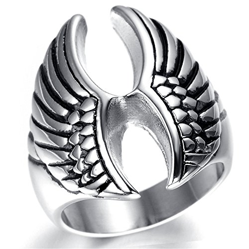 Fashion Kstyle Jewelry Mens Stainless Steel Ring Vintage MC KR2008