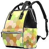 Bolsa de pañales Hexagonal con Forma de Panal Colorida para Suelo de Pared, Mochilas para Ordenador portátil, Mochila de Viaje, Senderismo, Mochila para Mujeres y Hombres