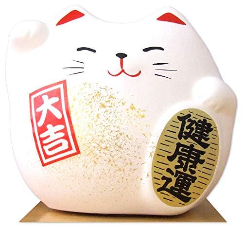 Gifts Of The Orient GOTO® - Gato Maneki Neko Feng Shui Blanco Suerte para La Salud